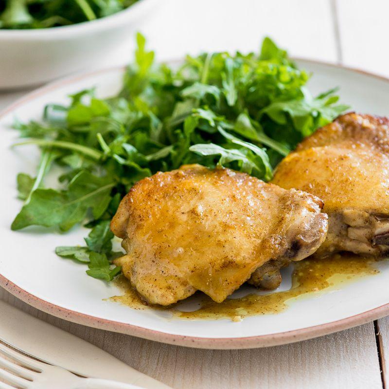 Honey Mustard Baked Chicken Thighs   Recipe   Chicken ...