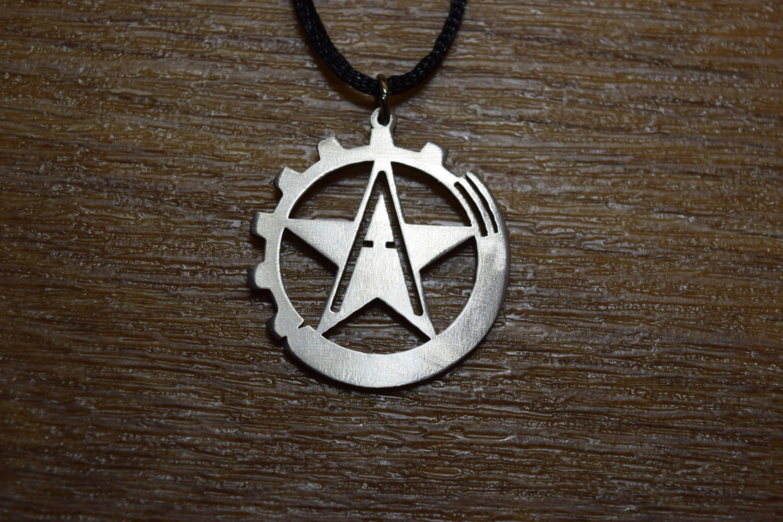 Anarcho Communism Necklace Anarcho Anarchy Cross Logo Necklace Pendant Symbol Talisman Choker Sharm Pin Vegan Go Vegan By Steeljewerly On Etsy