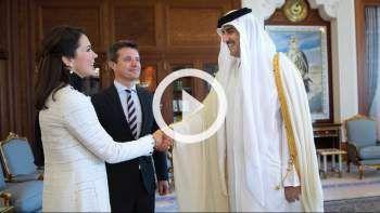 Kronprinsesse Mary sagde farvel til emiren af Qatar