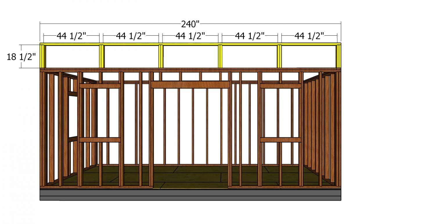 10×20 Modern Office Shed Plans Free PDF Download