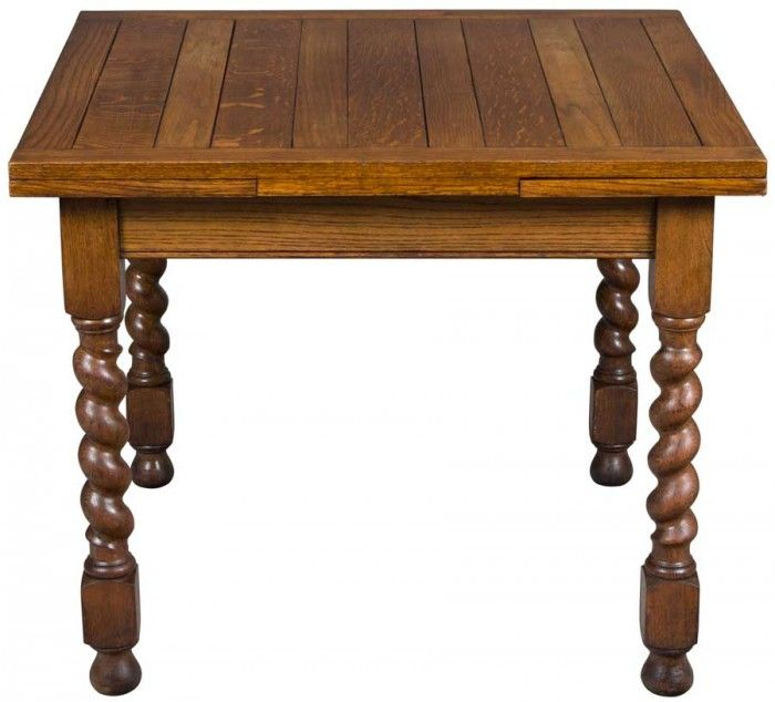 Antique Pub Table With Pull Out Leaves.