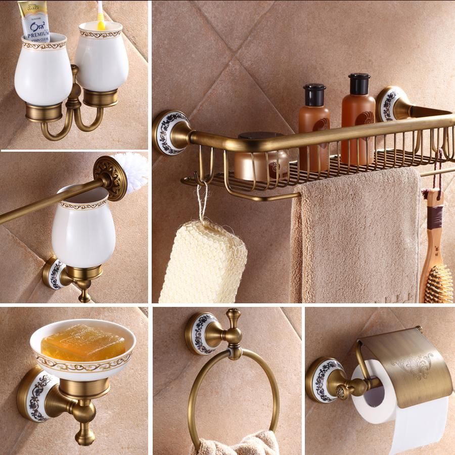 Visit To Buy Antique Brass Luxury Bathroom Accessory Paper Holder Toilet Brush Rack Commodit Bathroom Accessories Luxury Bathroom Accessories Luxury Bathroom