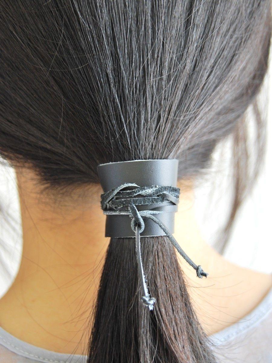 leather hair tie Hair ties, Hair, Hair wraps