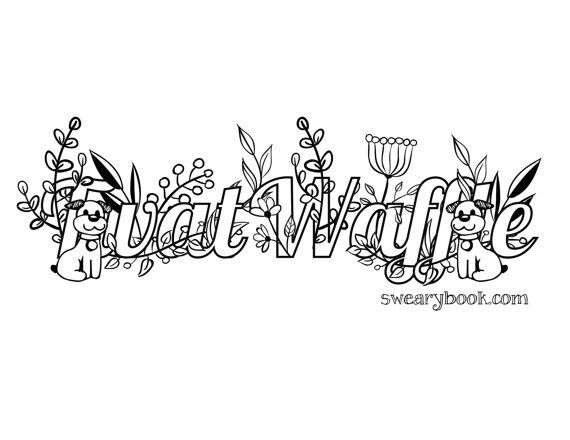 twat waffle swear words coloring page from the sweary coloring book swearing colouring pages