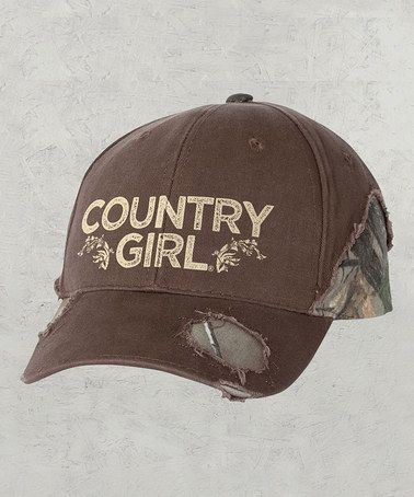 Look what I found on  zulily! Brown   Realtree  Country Girl  Baseball Cap  by Country Girl  zulilyfinds ccda3717f3f4