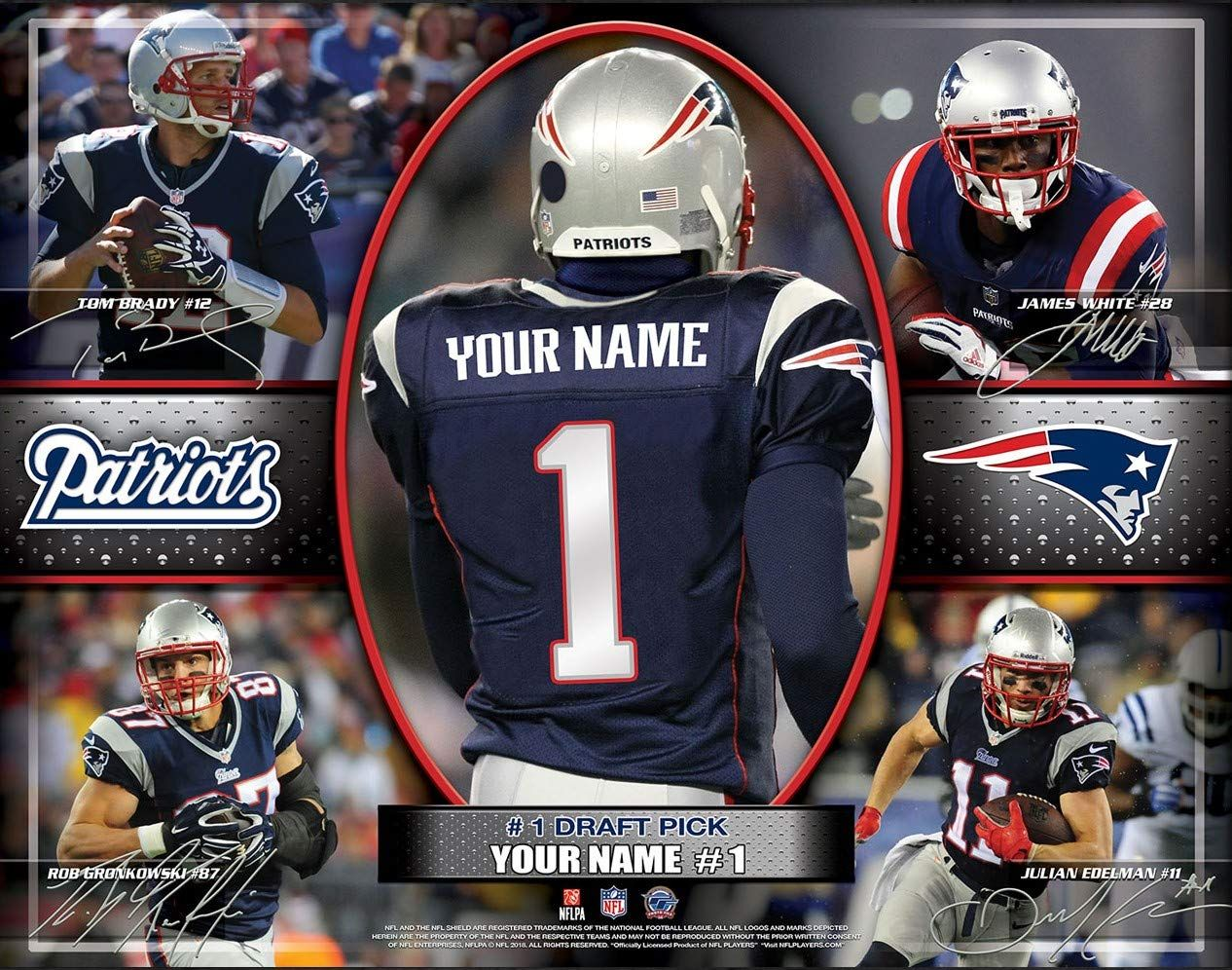 Personalized New England Patriots Wall Poster Nfl Draft Pick Unframed Print New England Patriots England Patriots Patriots