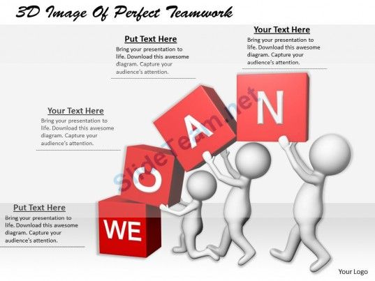 1113 3D Image Of Perfect Teamwork Ppt Graphics Icons Powerpoint 3D