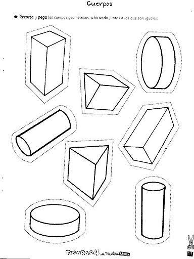 Educando Con Amor Cuerpos Geometricos Figuras Y Cuerpos Geometricos Cuerpos Geometricos Para Colorear Ejercicios De Figuras Geometricas