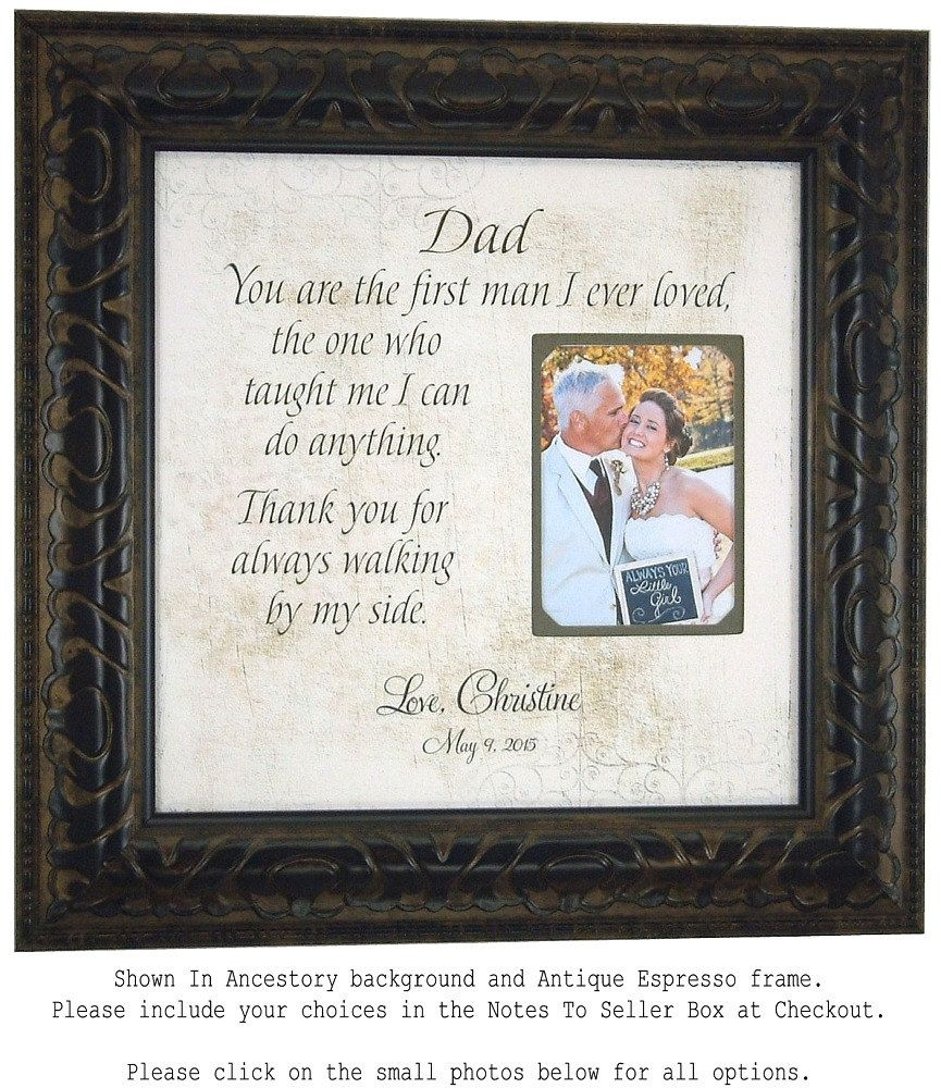 Father Of The Bride Gift Favorite Walk Bridal Wedding Frame