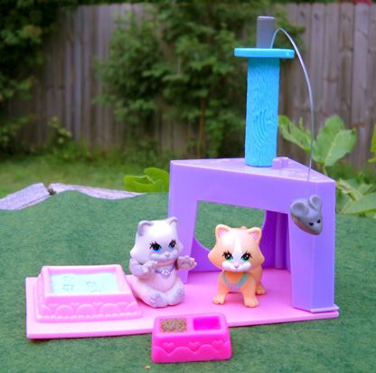 The only Littlest Pet Shop I had. I loved that orange kitty. Inside his nose there was a magnet so he could catch the mouse
