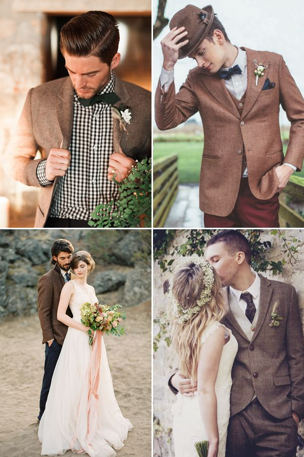 Goodbye Black Suits 30 Stylish Colored Suits For Modern Grooms Modern Groom Wedding Suits Groom Brown Suit Wedding