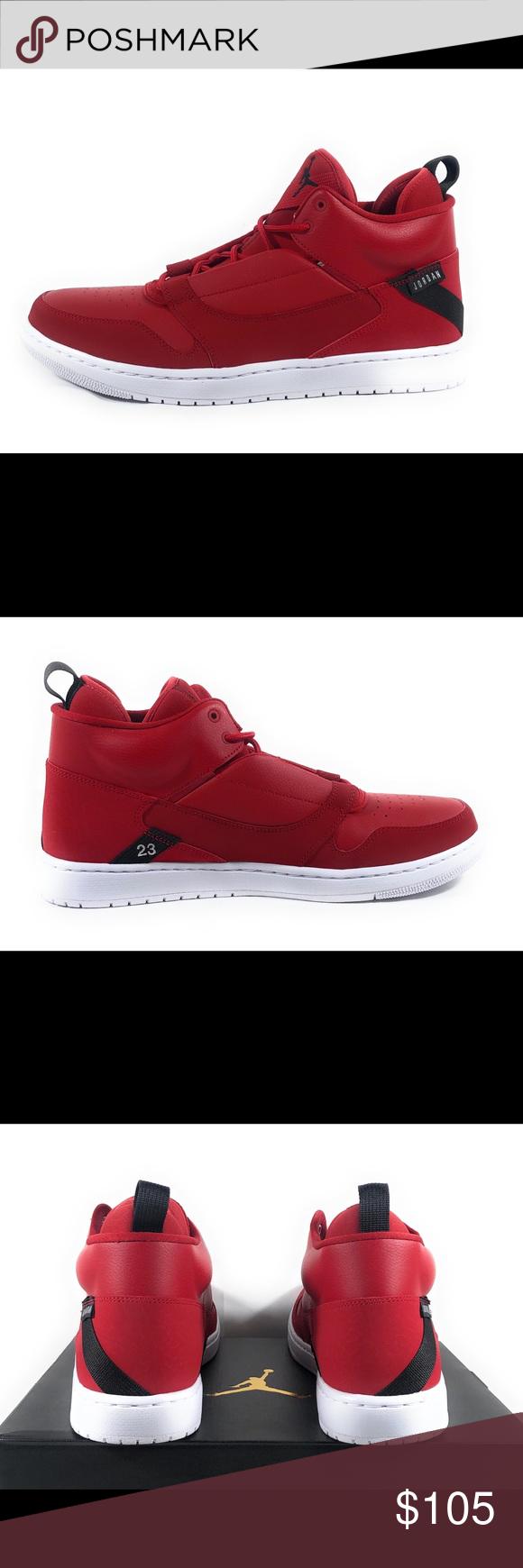 844fcb5c0ab5 Nike Jordan Fadeaway Men s Basketball Sneakers Nike Jordan Fadeaway Men s  Mid Top Red Basketball Sneakers AO1329