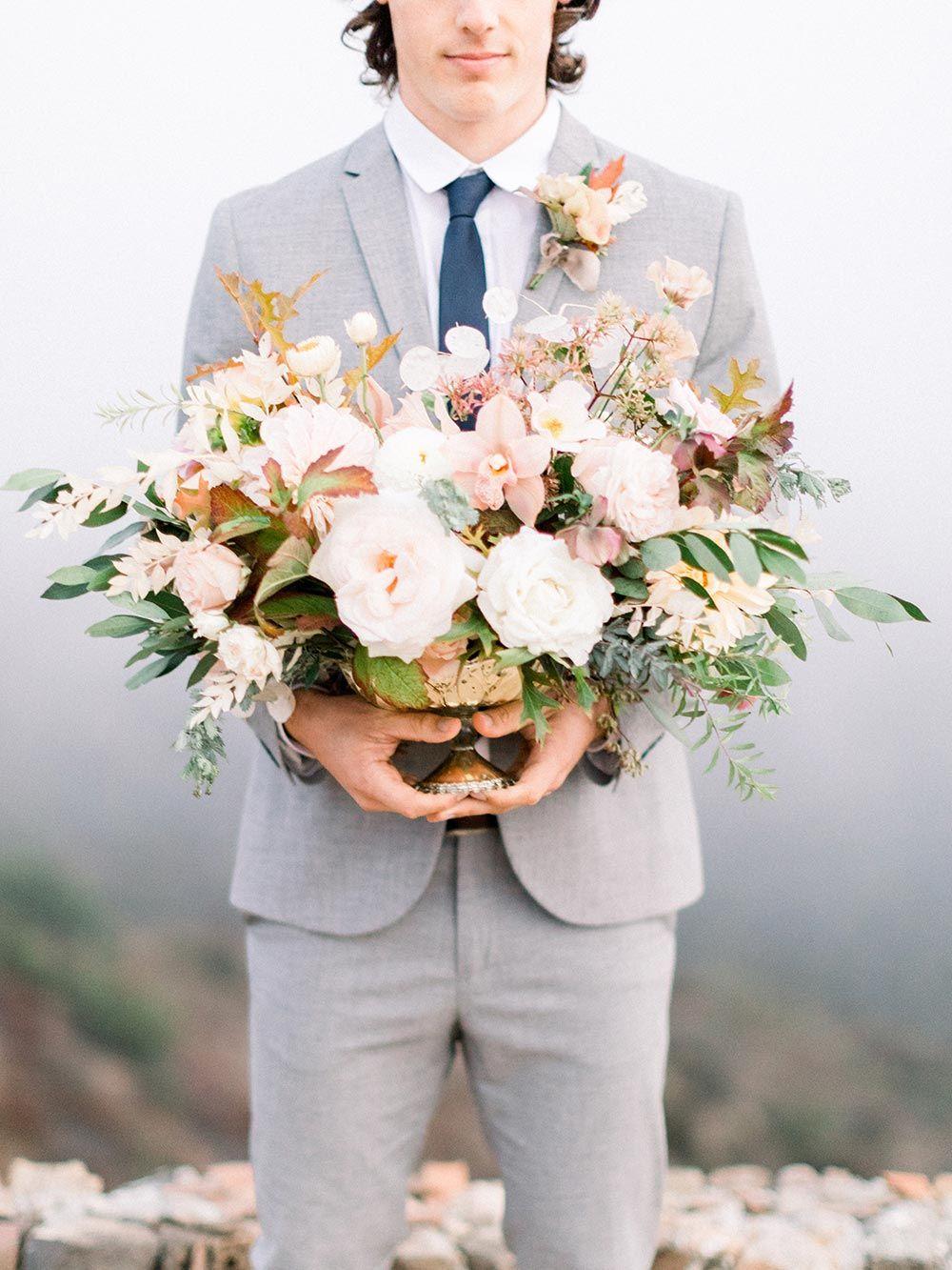 Colorful Sunset Wedding Inspiration with Malibu Mountain Views