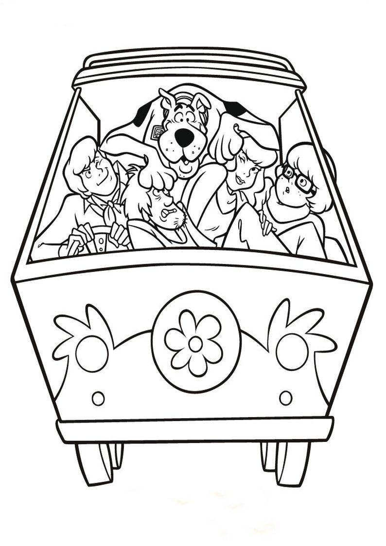Znalezione Obrazy Dla Zapytania Kolorowanki Do Druku Scooby Doo Scooby Doo Coloring Pages Pattern Coloring Pages Pattern Art