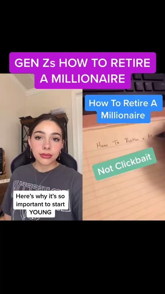 GEN Zs HOW TO RETIRE A MILLIONAIRE