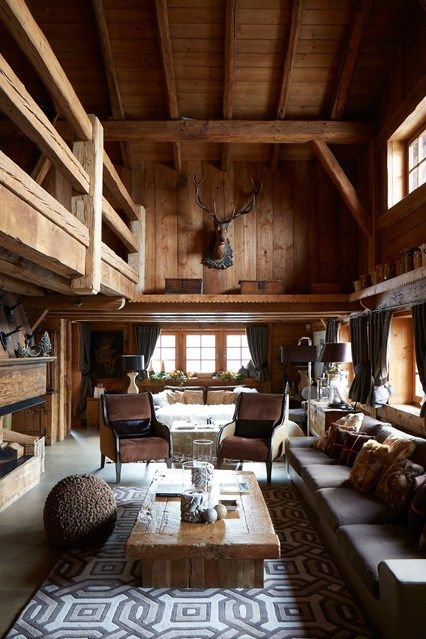 Merveilleux Rustic Wood Panelled Living Room   Rustic Interior Design Ideas   Cosy  Living Rooms, Bedrooms And Bathrooms Inspired By Cabin Decor, Scandinavian  Design And ...