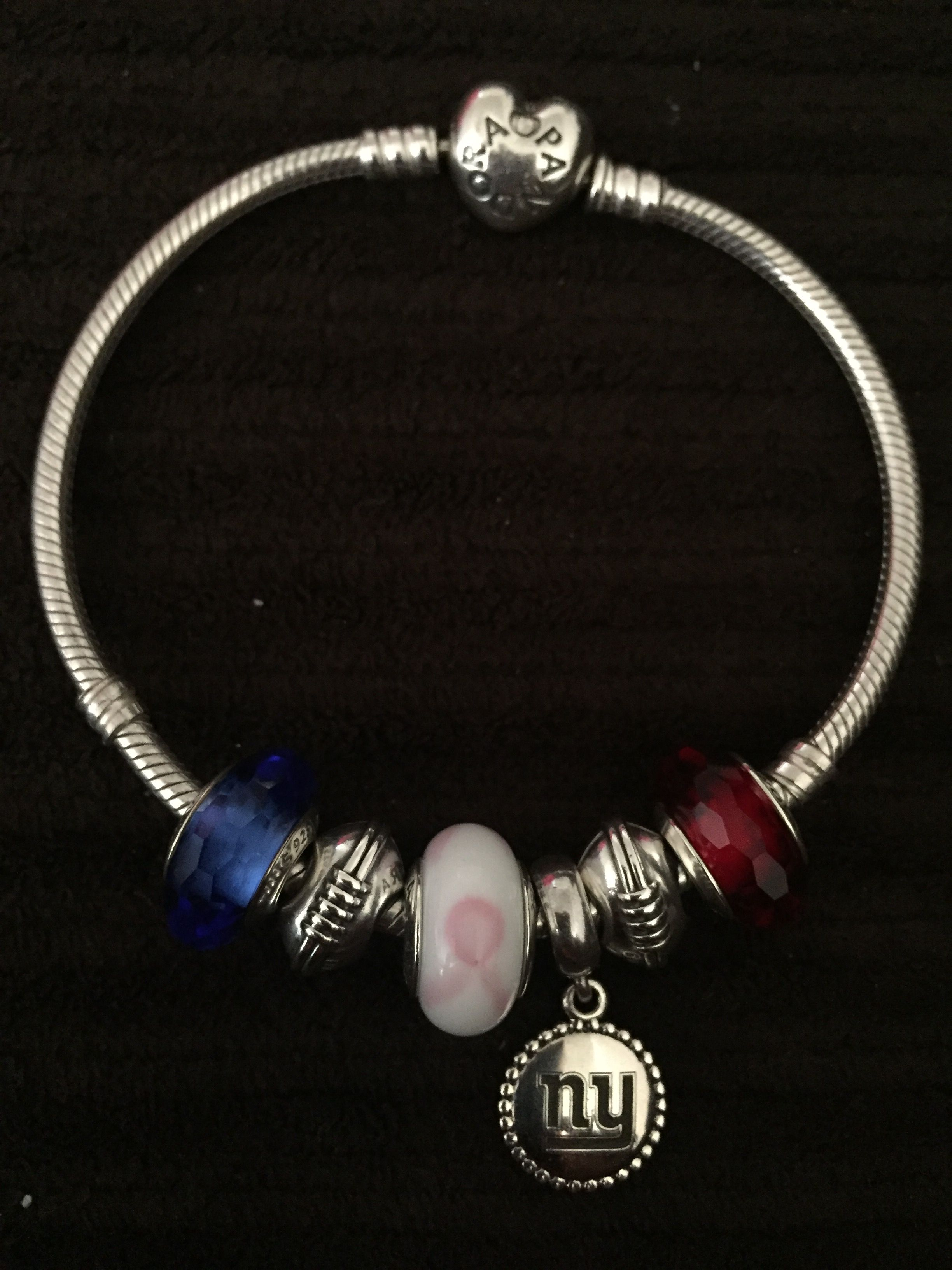 Gonygiants Nfltcancer Nygiants Pandora New York Giants Bracelet