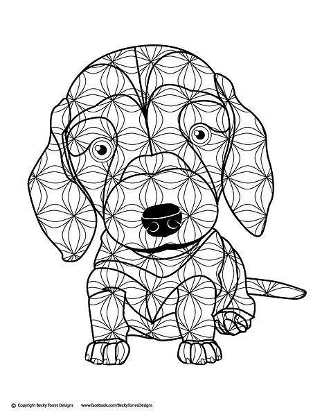 Pin by Barbara on coloring dog | Pinterest | Coloring books