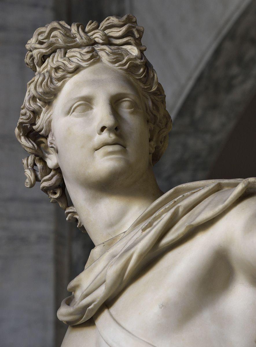 Apollo Belvedere. Rome, Vatican Museums, Pius-Clementine Museum, Octagonal Court, Apollo Cabinet, 2 (Roma, Musei Vaticani, Museo Pio-Clementino, Cortile ottagono)