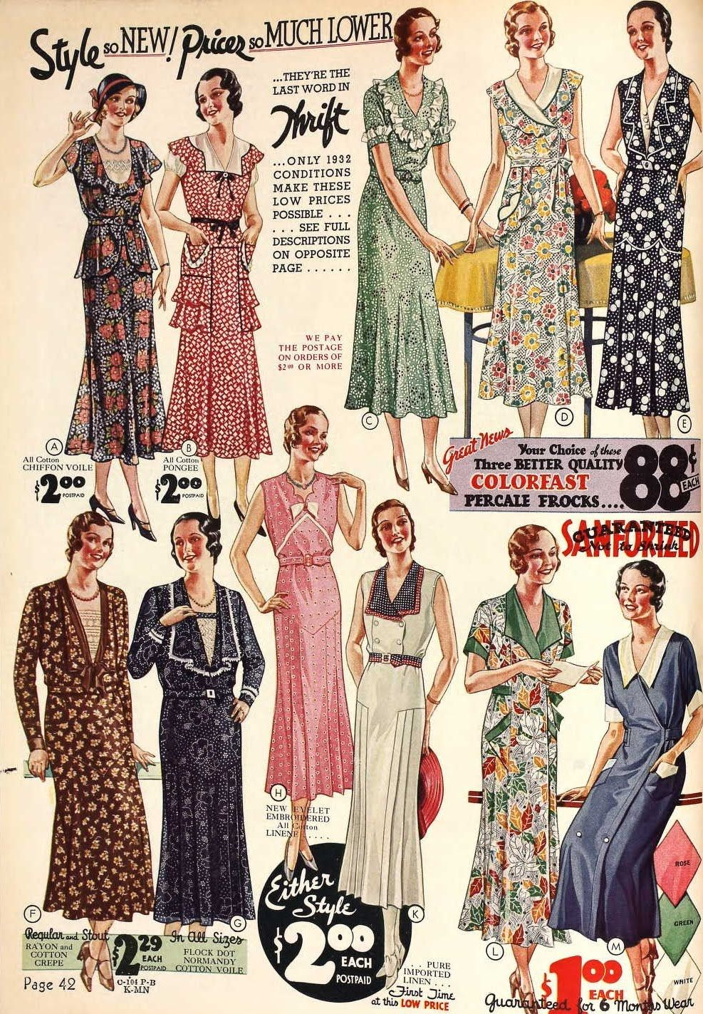 289a2c90790 Vintage Catalog for Dresses in the 1930s