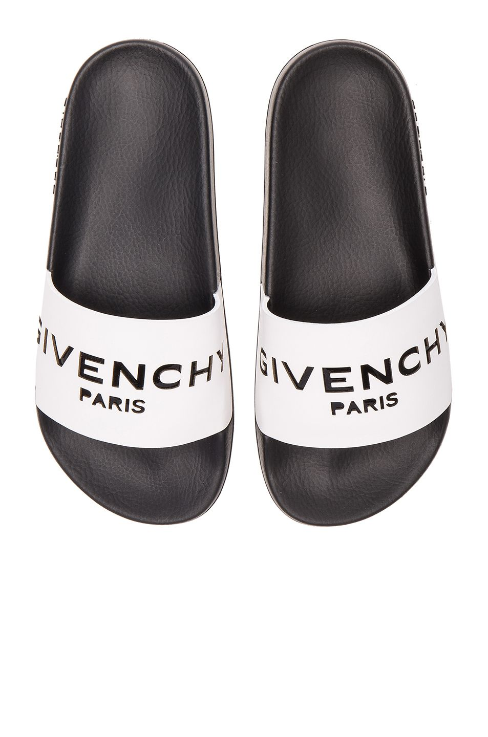 bca06f0ad3bd GIVENCHY Leather Logo Slide Sandals.  givenchy  shoes