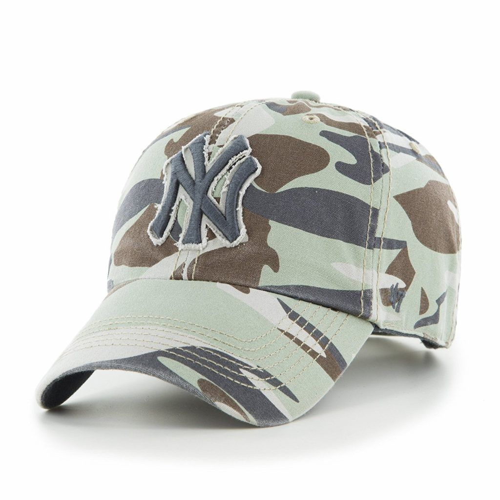 1b5f6aac1c New York Yankees Tarpoon Faded Camo 47 Brand Adjustable Hat