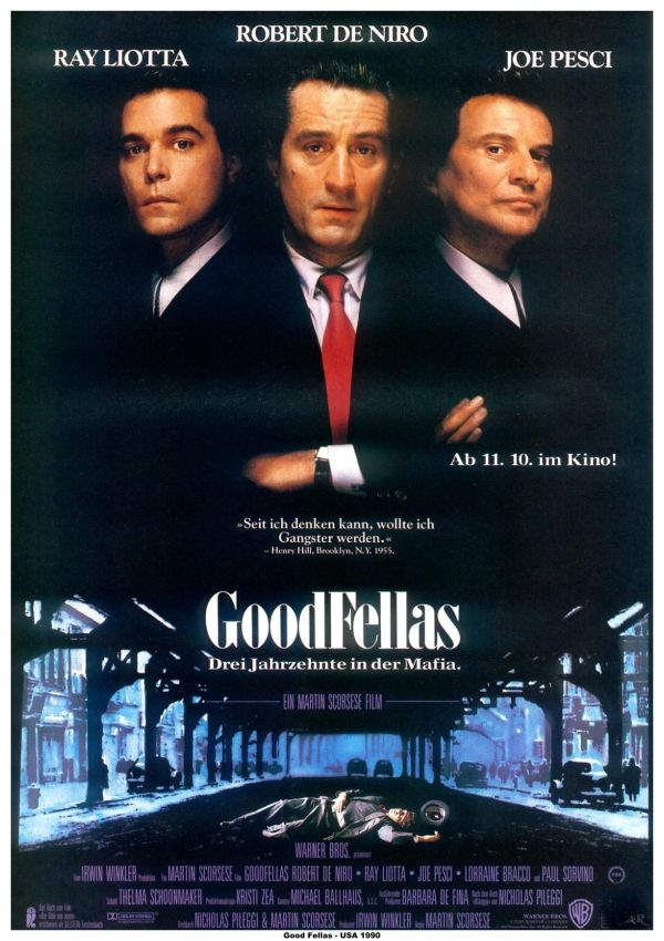 Goodfellas, Martin Scorsese,1990. Robert De Niro, Ray ...