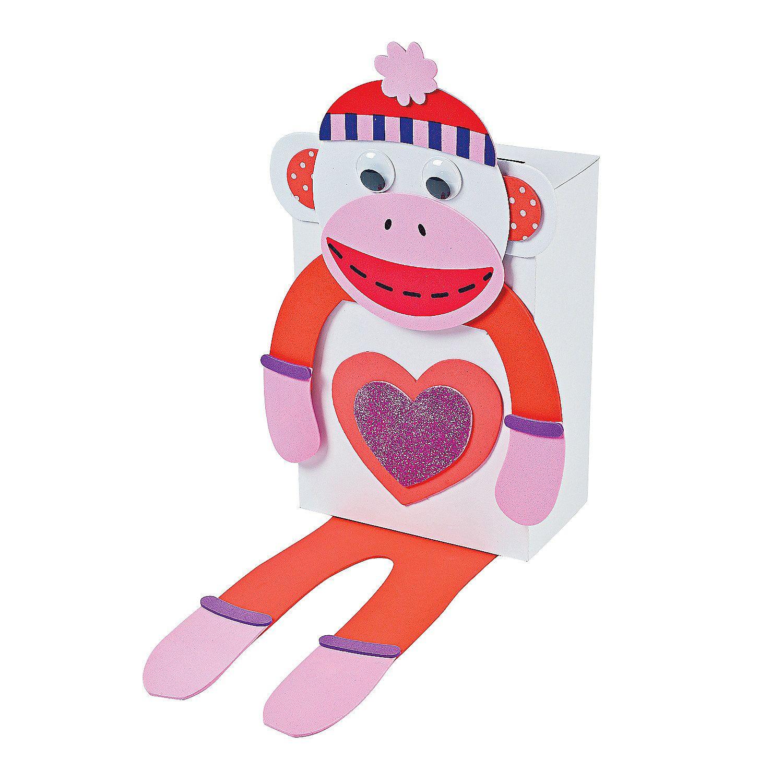 Monkey Valentine Card Holder Craft Kit  OrientalTradingcom