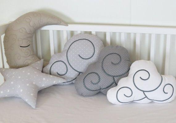 Moon Pillow, Cloud Pillows, Star Pillow Set (5) Kids Cushions ...