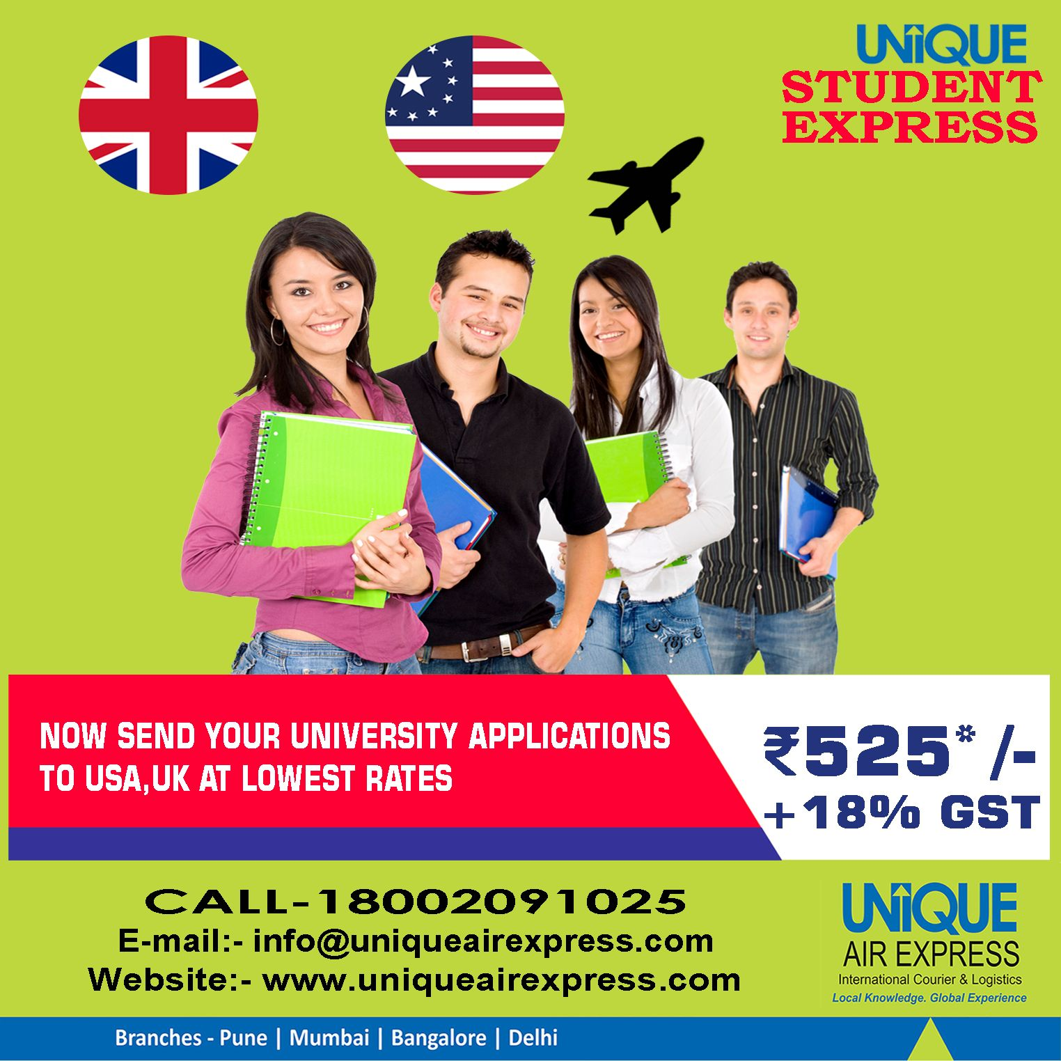 Now Studying Abroad is much easier. Send Your USA & UK