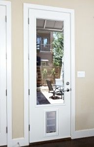 JELD WEN 9 Lite Primed White Steel Entry Door With Medium Pet Door And  Brickmold THDJW203900014 At The Home Depot | Decorating Our Dream Home |  Pinterest ...