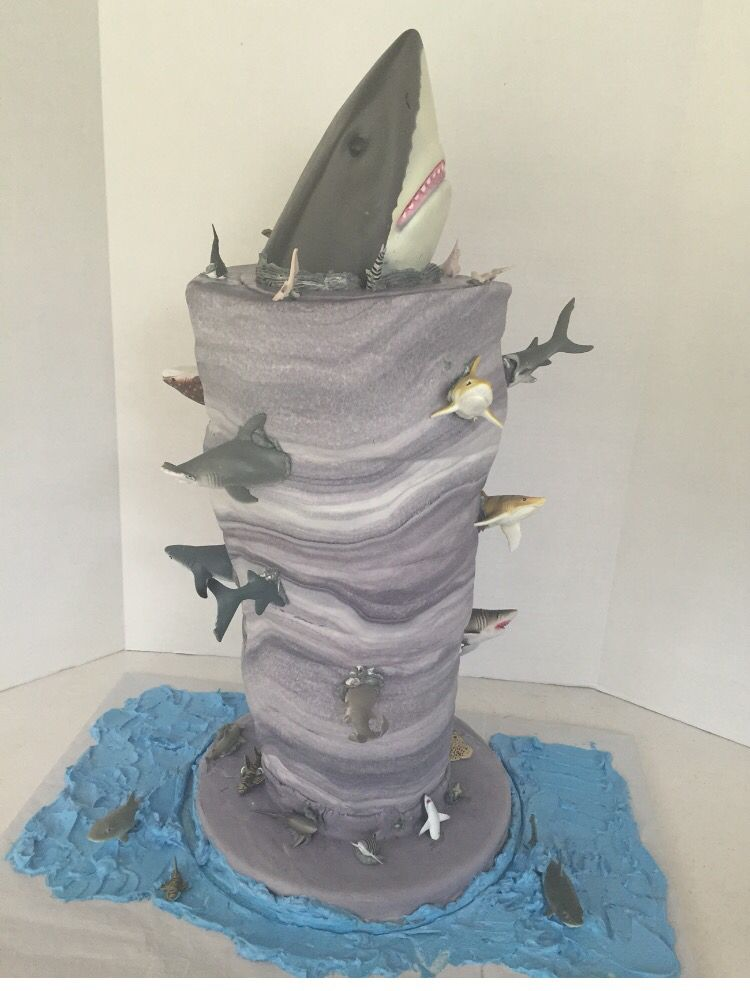 Shark Tornado Aka Sharknado Cake Shark Birthday Cakes Birthday