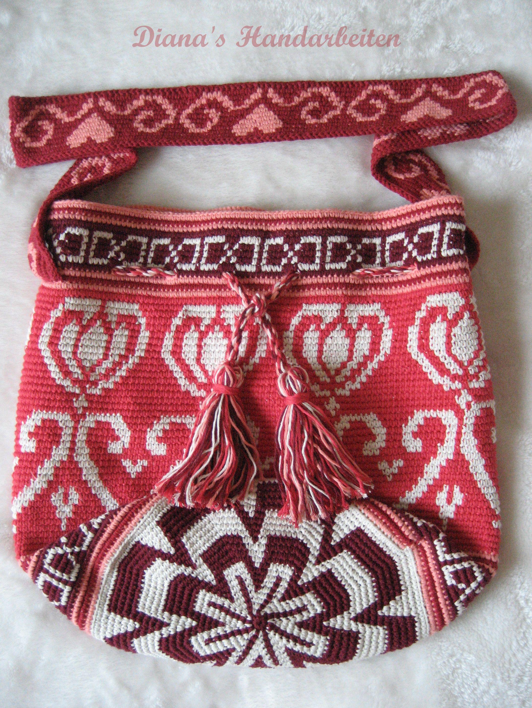 Mochila Tapestry Technik gehäkelt. https://www.facebook.com/514978628659708/photos/a.663820590442177.1073741873.514978628659708/671340869690149/?type=3&theater
