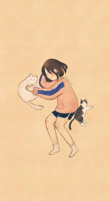 15+ ideas cats illustration cute gatos