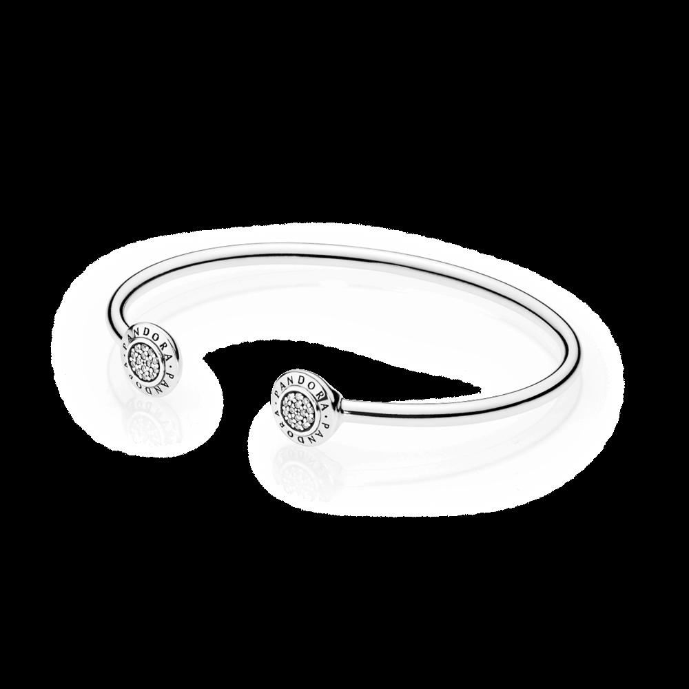 Pandora Pandora Signature Clear Cz Pulseira Pandora Prata Bracelete Joias Pandora