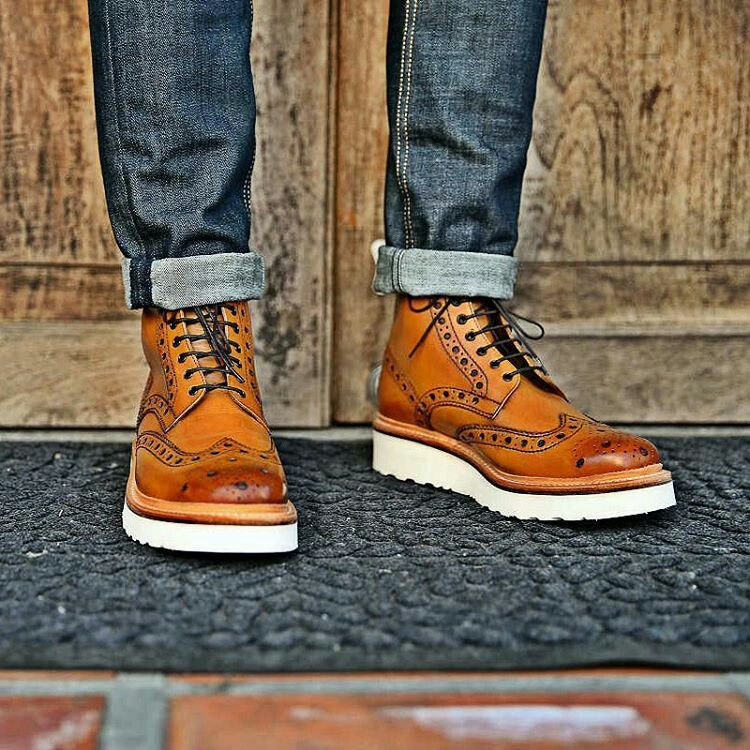 new product 972e2 90a9c With d touch of classic and rugged look combined. Mens Brogue Boots, Mens  Lace