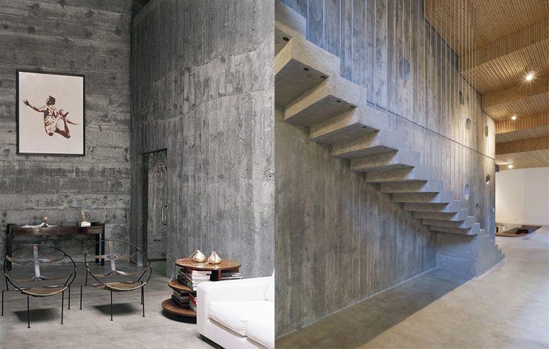 El cemento como elemento decorativo los talleres de for Diseno para paredes interiores