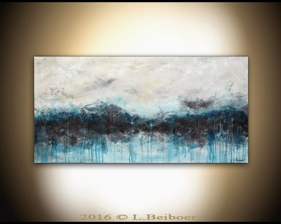 Original Large Abstract Painting 24 X 48 Modern Oil Painting Wall Art Contemporary Abstract Art Handmade Decor L Beiboer
