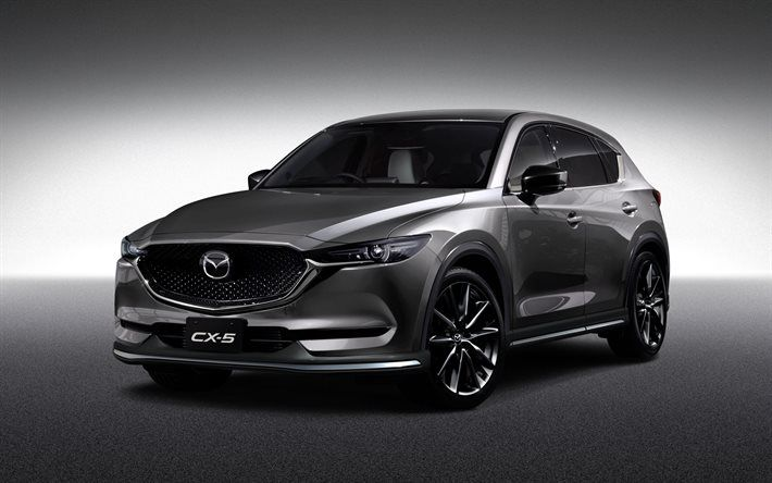 Download Wallpapers Mazda Cx 5 2017 Crossover Silver Cx 5 New