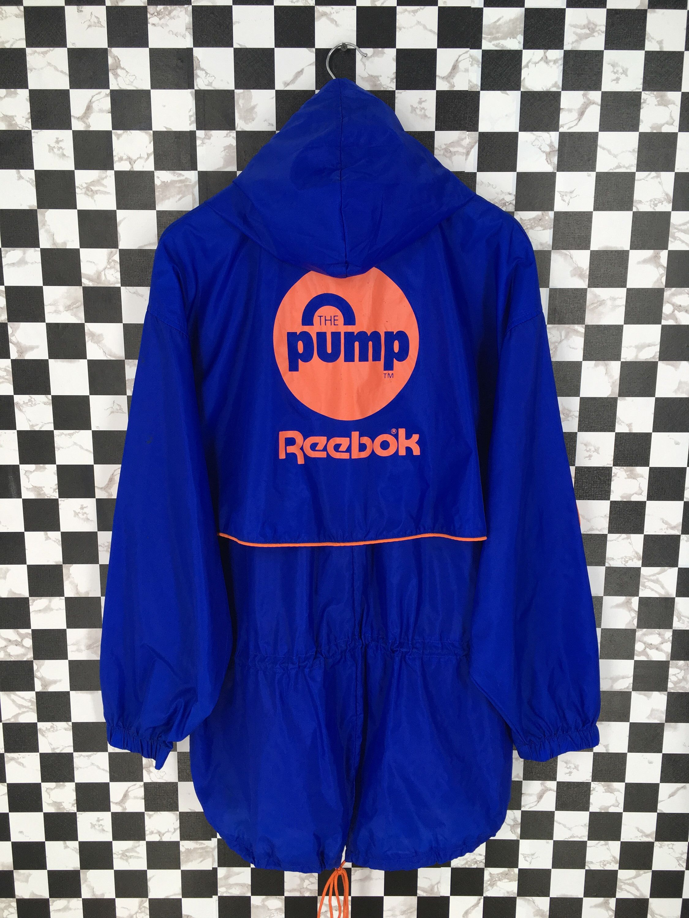 cojo Coche ilegal  Excited to share this item from my #etsy shop: Vintage 90's REEBOK Parka  Jacket Large Reebok Pump Windreak…   Blue jacket, Grey pullover sweater,  Adidas windbreaker