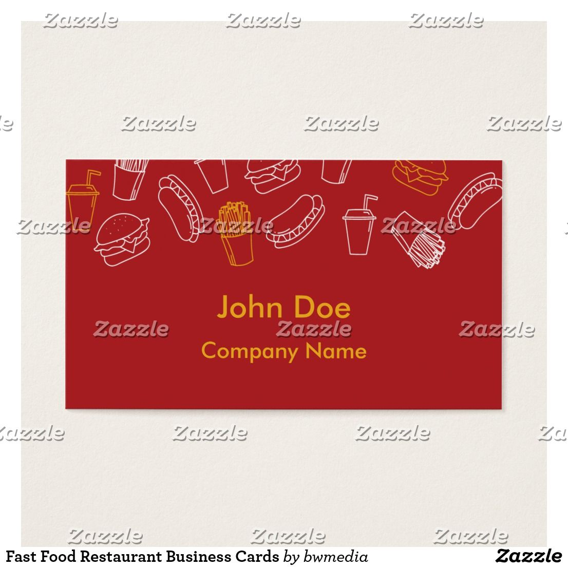 Fast Food Restaurant Business Cards | Business cards