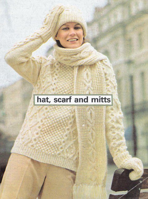 1ee7f818a79 PDF vintage Aran Irish knitting pattern