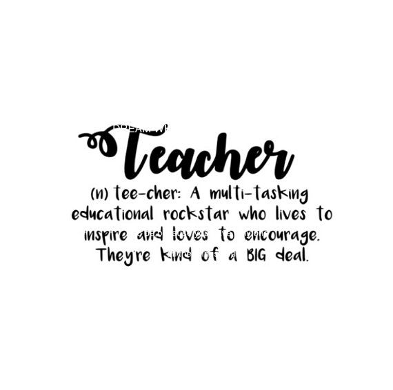 Teacher Definition Cuttable Svg, DXF, EPS, PNG Silhouette