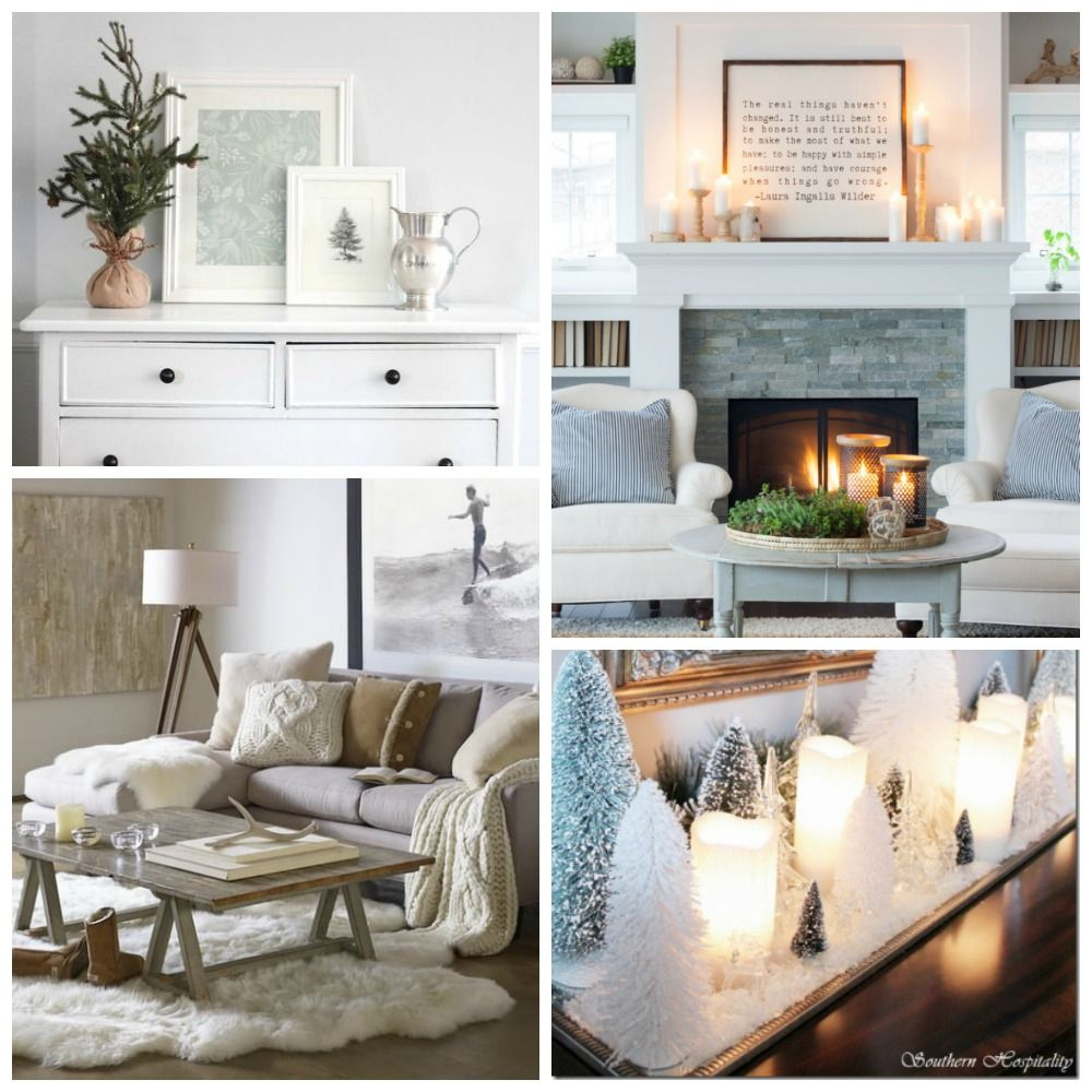 Elegant And Neutral Christmas Foyer: Clean Cozy Neutral Winter Decorating Ideas
