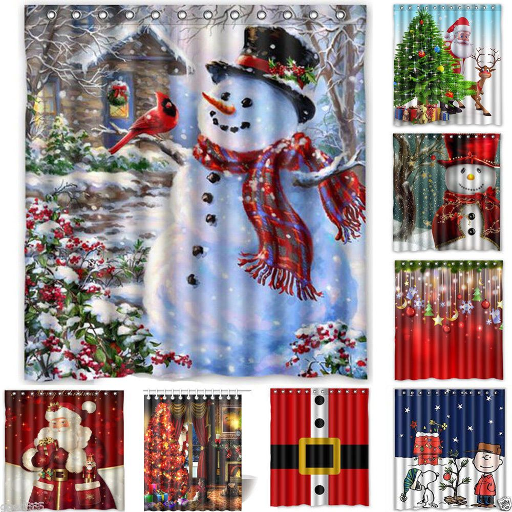 bathroom living snowman towels large full christmas themed of ulta sets walmart size bath shower curtains holiday