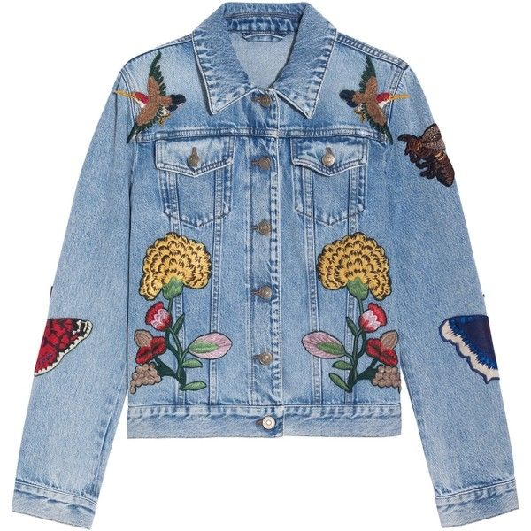 Gucci tiger embroidered denim jacket