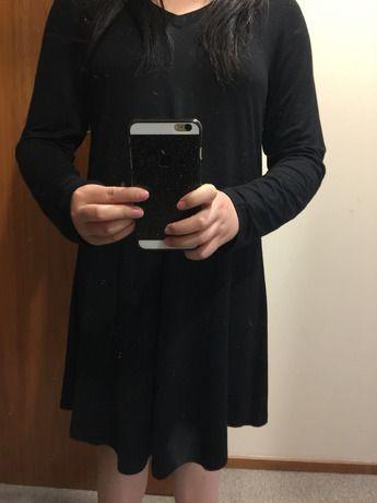 black long sleeve casual dress sheinsheinside  long
