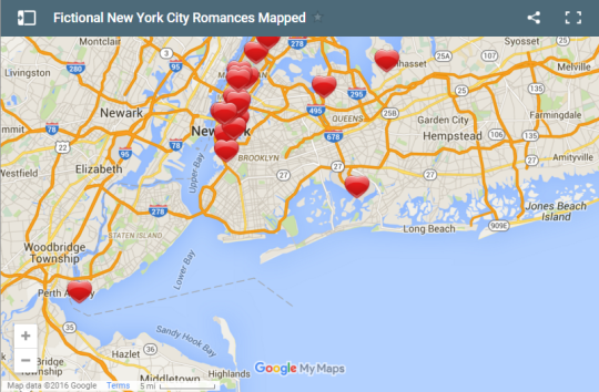 The New York Public Library Maps Fictional Nyc Romances With