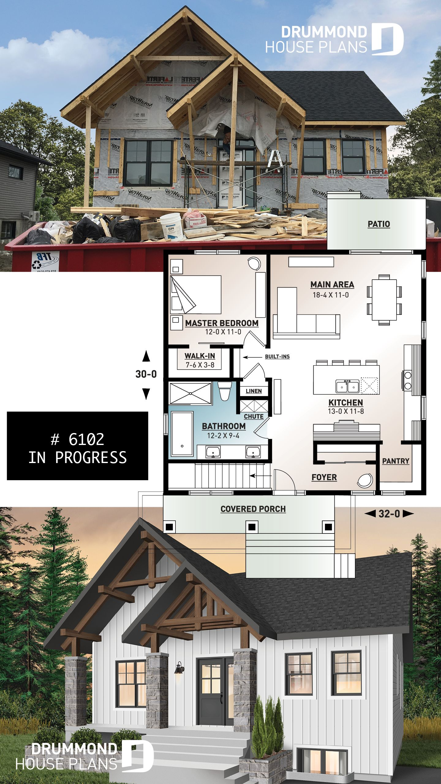 Discover The Plan 6102 Nordika Which Will Please You For Its 1 2 3 Bedrooms And For Its Modern Rustic Styles House Plans Farmhouse Ranch House Plans Basement House Plans