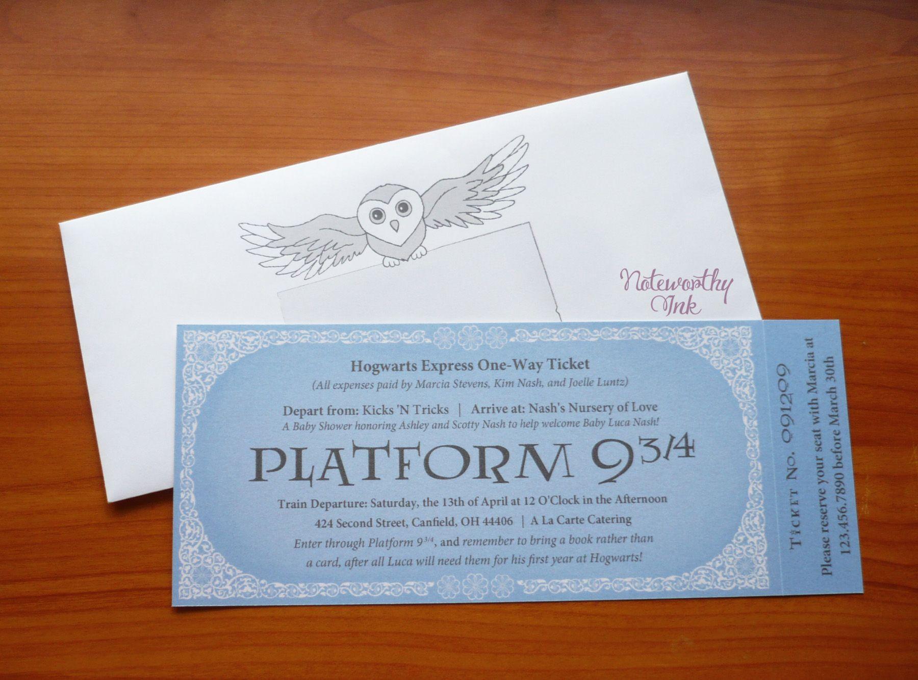 Harry Potter Hogwarts Express Baby Shower Invitation by Noteworthy ...